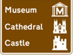 UK Tourist Attractions Signs