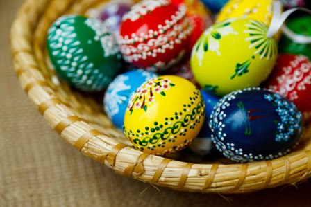 Traditionally decorated Easter Eggs