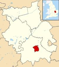 Map of Cambridge in Cambridgeshire, England