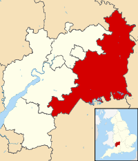 Map of the Cotswolds in England