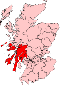 Map of Argyll & Bute