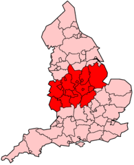 Map of the Midlands