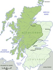 Map of the Scottish Highlands