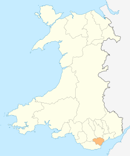 Map of Cardiff in Wales