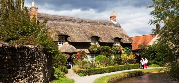 Thatch Cottage, Thornton-le-Dale, North York Moors National Park, North Yorkshire, England