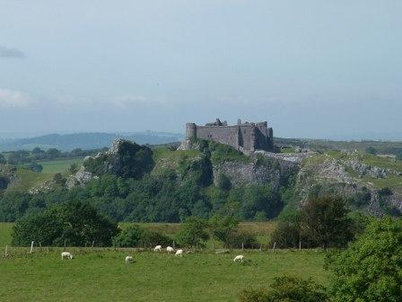 Carreg Cennen Castle, Brecon Beacons National Park, Wales