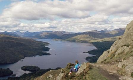 Summit of Ben A'an, overlooking Loch Katrine, Loch Lomond & the Trossachs, Scotland