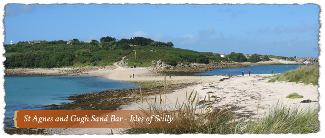St Agnes & Gugh Sand Bar-Isle of Scilly, Cornwall, England