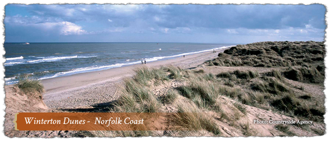 Winterton Dunes, Norfolk Coast AONB, England