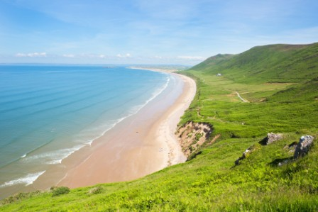 Rhossili Bay beach, Gower, Wales